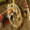 Install brake rotors on wheels